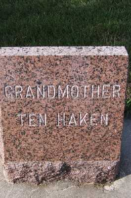 TENHAKEN, GRANDMOTHER - Sioux County, Iowa | GRANDMOTHER TENHAKEN