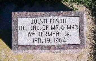 TERMAAT, JOLYN FAYTH - Sioux County, Iowa   JOLYN FAYTH TERMAAT