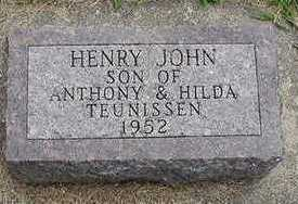 TEUNISSEN, HENRY JOHN - Sioux County, Iowa | HENRY JOHN TEUNISSEN