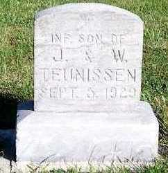 TEUNISSEN, INFANT SON OF J. & W. - Sioux County, Iowa | INFANT SON OF J. & W. TEUNISSEN