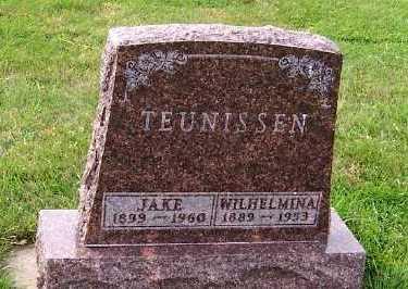 TEUNISSEN, WILHELMINA - Sioux County, Iowa | WILHELMINA TEUNISSEN
