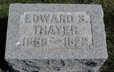 THAYER, EDWARD S. - Sioux County, Iowa   EDWARD S. THAYER