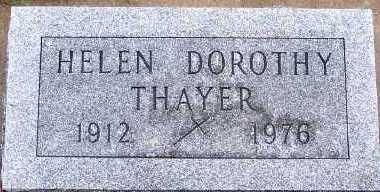 THAYER, HELEN DOROTHY - Sioux County, Iowa | HELEN DOROTHY THAYER