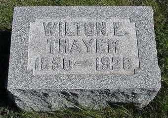 THAYER, WILTON E. - Sioux County, Iowa | WILTON E. THAYER