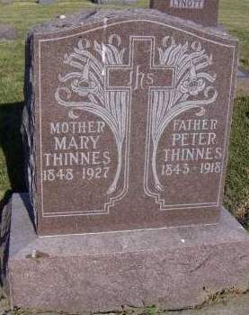 THINNES, MARY - Sioux County, Iowa | MARY THINNES