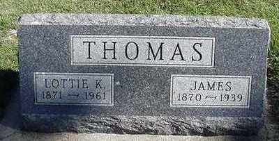 THOMAS, LOTTIE K. (MRS. JAMES) - Sioux County, Iowa   LOTTIE K. (MRS. JAMES) THOMAS