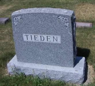 TIEDEN, HEADSTONE - Sioux County, Iowa | HEADSTONE TIEDEN