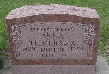 TIEMERSMA, ANNA - Sioux County, Iowa | ANNA TIEMERSMA