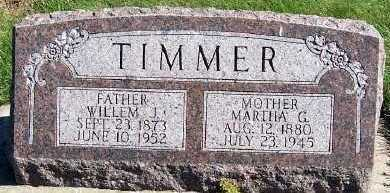 TIMMER, MARTHA G. - Sioux County, Iowa   MARTHA G. TIMMER