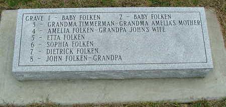 FOLKEN, AMELIA (MRS. JOHN) - Sioux County, Iowa | AMELIA (MRS. JOHN) FOLKEN