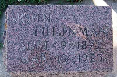 TUIJNMAN, JOHN - Sioux County, Iowa   JOHN TUIJNMAN