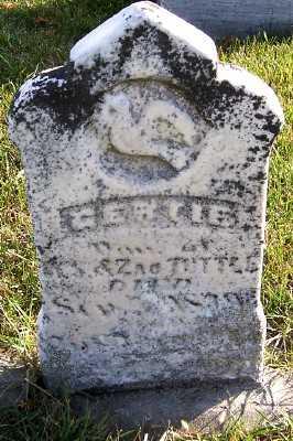 TUTTLE, GERTIE (DAU OF W.S.& ZAC) - Sioux County, Iowa | GERTIE (DAU OF W.S.& ZAC) TUTTLE