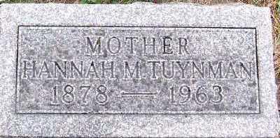 TUYNMAN, HANNAH - Sioux County, Iowa   HANNAH TUYNMAN