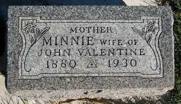 VALENTINE, MINNIE (MRS. JOHN) - Sioux County, Iowa   MINNIE (MRS. JOHN) VALENTINE
