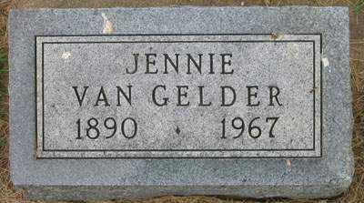 VANGELDER, JENNIE - Sioux County, Iowa | JENNIE VANGELDER