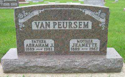 VANPEURSEM, ABRAHAM - Sioux County, Iowa | ABRAHAM VANPEURSEM