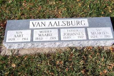 VANAALSBURG, MAAIKE (1843-1921) - Sioux County, Iowa | MAAIKE (1843-1921) VANAALSBURG