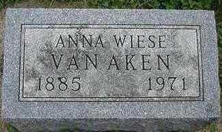 WIESE VANAKEN, ANNA - Sioux County, Iowa   ANNA WIESE VANAKEN
