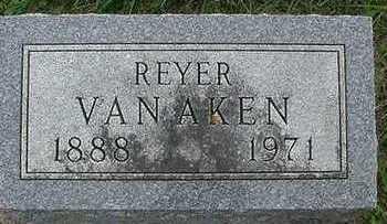 VANAKEN, REYER - Sioux County, Iowa   REYER VANAKEN