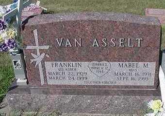 VANASSETL, MABEL M. - Sioux County, Iowa | MABEL M. VANASSETL