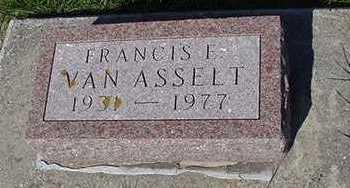 VANASSELT, FRANIS E. - Sioux County, Iowa | FRANIS E. VANASSELT