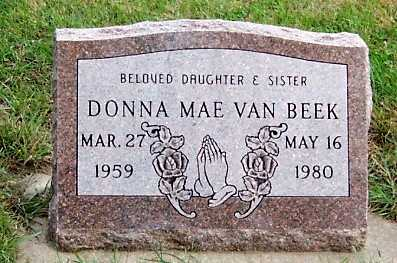 VANBEEK, DONNA MAE - Sioux County, Iowa   DONNA MAE VANBEEK