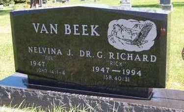 VANBEEK, DR. G. RICHARD - Sioux County, Iowa   DR. G. RICHARD VANBEEK
