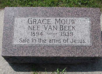 VANBEEK, GRACE - Sioux County, Iowa | GRACE VANBEEK