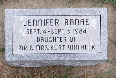 VANBEEK, JENNIFER RANAE - Sioux County, Iowa   JENNIFER RANAE VANBEEK