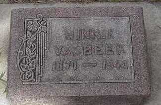 VANBEEK, MINNIE - Sioux County, Iowa   MINNIE VANBEEK
