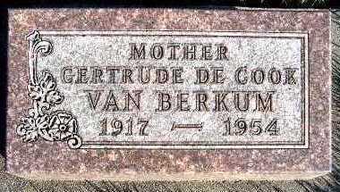 DECOOK VANBERKUM, GERTRUDE - Sioux County, Iowa   GERTRUDE DECOOK VANBERKUM