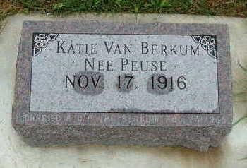 VANBERKUM, KATIE (MRS.) - Sioux County, Iowa | KATIE (MRS.) VANBERKUM