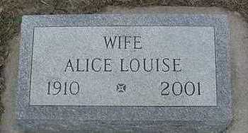VANCITTERS, ALICE LOUISE - Sioux County, Iowa | ALICE LOUISE VANCITTERS
