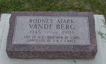 VANDEBERG, RODNEY MARK - Sioux County, Iowa | RODNEY MARK VANDEBERG