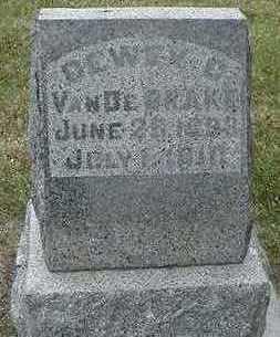 VANDEBRAKE, DEWEY C.  D.1910 - Sioux County, Iowa | DEWEY C.  D.1910 VANDEBRAKE