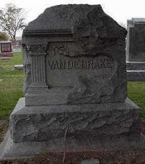 VANDEBRAKE, HEADSTONE - Sioux County, Iowa   HEADSTONE VANDEBRAKE