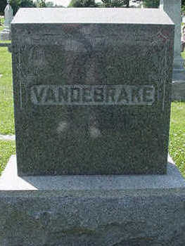 VANDEBRAKE, HEADSTONE - Sioux County, Iowa | HEADSTONE VANDEBRAKE