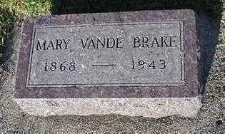 VANDEBRAKE, MARY - Sioux County, Iowa | MARY VANDEBRAKE