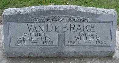 VANDEBRAKE, WILLIAM  D.1947 - Sioux County, Iowa | WILLIAM  D.1947 VANDEBRAKE