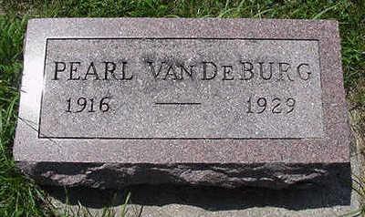 VANDEBURG, PEARL - Sioux County, Iowa   PEARL VANDEBURG
