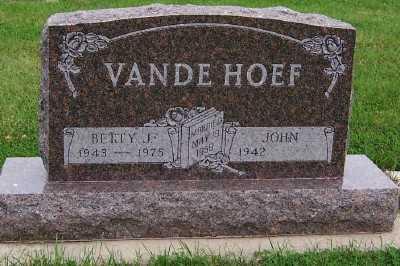 VANDEHOEF, BETTY J. - Sioux County, Iowa   BETTY J. VANDEHOEF