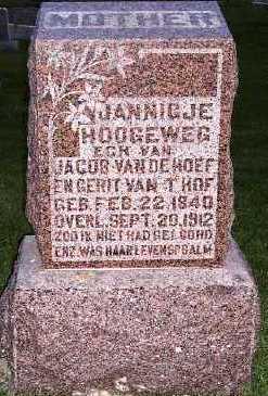 HOOGEWEG VANDEHOEF, JANNIGJE (MRS. JACOB) - Sioux County, Iowa | JANNIGJE (MRS. JACOB) HOOGEWEG VANDEHOEF