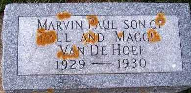 VANDEHOEF, MARVIN PAUL - Sioux County, Iowa | MARVIN PAUL VANDEHOEF