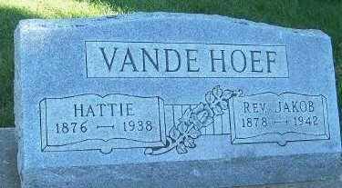 VANDEHOEF, HATTIE - Sioux County, Iowa   HATTIE VANDEHOEF