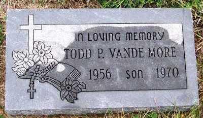 VANDEMORE, TODD P. - Sioux County, Iowa   TODD P. VANDEMORE