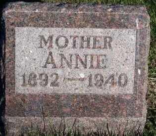VANDENBERG, ANNIE - Sioux County, Iowa   ANNIE VANDENBERG
