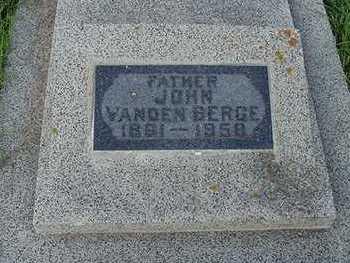 VANDENBERGE, JOHN - Sioux County, Iowa   JOHN VANDENBERGE