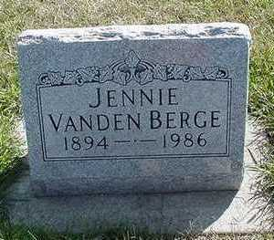 VANDENBERGE, JENNIE - Sioux County, Iowa | JENNIE VANDENBERGE