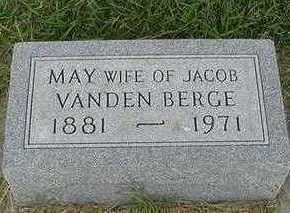 VANDENBERGE, MAY (MRS. JACOB) - Sioux County, Iowa | MAY (MRS. JACOB) VANDENBERGE