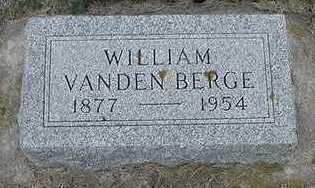 VANDENBERGE, WILLIAM - Sioux County, Iowa   WILLIAM VANDENBERGE